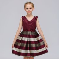 Children Girls Clothing Baby Girls Striped Dress For Girls F...