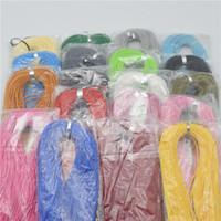 100pcs 19colors вспомогательное оборудование ювелирных изделий Lobster застежками кожаный шнур ожерелье цепь 1.5mm корейский хлопок воск шнур ожерелье DIY
