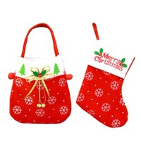 Décorations pour arbres de Noël accrocher chaussettes de Noël Chaussettes de Noël pour la décoration intérieure Sac cadeau de Noël pour enfant