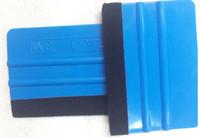 10 * 7.3 CM Coche Azul PVC Vinilo Película Envolvente Herramientas Ventana Teléfono móvil Pegatinas Calcomanías Pegar Pala de nieve Rascador Envoltura Película Kits de accesorios
