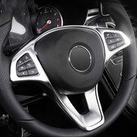 ABS хром рулевого колеса кнопка рамка украшения крышка отделка для Mercedes Benz C class W205/E class W213 / GLC X253 стайлинга автомобилей