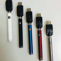 Preheating Battery Bottom Twist Manual Evod Preheat VV 400mAh 510 Thread Battery With USB Charger For Thick Oil Cartridge Atomizers