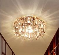 Luxury light Fashion LED Diameter 14cm K9 cystal ceiling light 110-240V 3W LED Ceiling Lamps Free Shipping