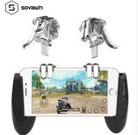 Sovawin 4-Click Metal Pubg Móvel Controlador Portátil Gamepad L1 R1 Trigger Objetivo L1R1 Shooter Jogo Do Telefone Botão de Fogo