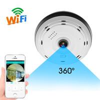 WiFi IP 360 Camera Camera Panoramic Fisheye объектив для iPhone и Android Baby Monitor Monitor Ночное видение Обнаружение в режиме реального времени Дистанционное управление