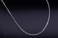 10 unids Color plata longitud aproximadamente 60 cm + otras partes Cadenas de collar de cadena de 5 cm de acero inoxidable para DIY Fabricación de materiales de joyería