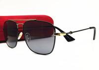 إيطاليا تصميم النظارات الشمسية الطيار مربع إطار طلاء عدسة uv400 نظارات النساء الرجال العلامة التجارية مصمم الأزياء الرجعية نمط جودة عالية مع مربع