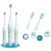 Hot 3 Heads Electric Toothbrush Rotating Type Brush Heads Ba...