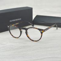 bd960cdd096c8 Óculos ópticos Vintage frame OV5186 óculos Gregory peck ov 5186 óculos de  leitura mulheres e homens