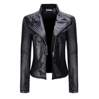 Wholesale 2018 New Trend Short Pure Color Motorcycle Jacket ...
