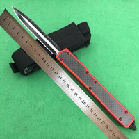 8 modelos Marca micro Makora II 106 D2 aço de alta qualidade 60HRC lâmina dupla ação T6-6061 caixa de fibra preta lidar com faca automática