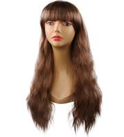 نماذج انفجار الأوروبية والأمريكية الباروكات 25 بوصة باروكة شعر متعددة الألوان مجعد طويل مجموعات الشعر الاصطناعية باروكات الشعر المنتجات مصمم