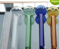 Super große 20 cm Länge Mischfarbe Pyrex Brenner Rohr Klarglas Ölbrenner Glasrohr Glaspfeife Rauchen Rohre fghfgh