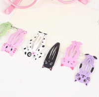 6pcs lot Fashion Women Animal Hairpin headwear barrettes per bambini Clip di capelli Gioielli Snap Clips Accessori per capelli per bambini