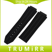 Vente en gros - bande de montre en caoutchouc de silicone convexe 26mm x 19mm pour hub de montre homme de montre bracelet bracelet bracelet noir bleu brun blanc