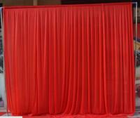 3 متر * 3 متر خلفية لأي لون حزب الستار مهرجان الاحتفال الزفاف المرحلة الأداء خلفية ثنى الستارة جدار valcloth
