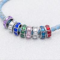 Adatto per gioielli in argento sterling Pandora braccialetto quadrato di cristallo perline Charms per fai da te stile europeo catena del serpente moda gioielli fai da te all'ingrosso
