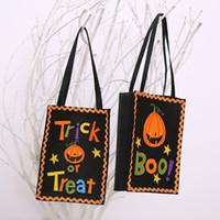 Bolsa de dulces de Halloween Bolsas de regalo Bolsas de calabaza Truco o trato Bolsas de sacos Hallowmas Regalo para niños Evento Suministros para fiestas Decoración
