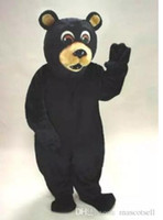 2018 High quality black bear mascot costume adult size facto...