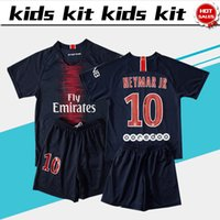 #10 NEYMAR JR soccer Jersey Kids Kit 18 19 #10 NEYMAR JR hom...