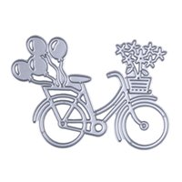 Diy قطع يموت جميل دراجة دراجة المعادن قطع يموت قالب الاستنسل لسكرابوكينغ ألبوم الصور ورقة بطاقة الحرفية