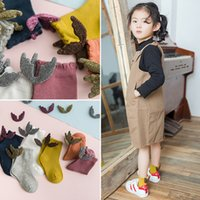 Spring Girls Socks Candy Color Ankle Length Creative Wings B...