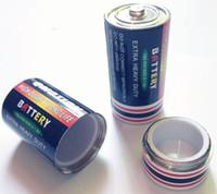 Grande batteria Scatola di pillole per la diversione di segreti segreti Stash Vaso di stoccaggio per tabacco di erbe di medie dimensioni Contenitore per soldi nascosto 25x49mm Stash in lega di zinco