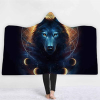 Home Textiles 2018 Winter New Wolf Blanket 3D Printed Animal...