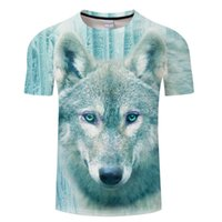 2018 Newest Harajuku Wolf 3D Print Cool T- shirt Men Women Sh...