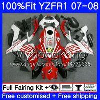 Cuerpo de inyección para yamaha yzf R 1 yzf-1000 yzf-r1 07 08 227hm.42 yzf 1000 yzfr1 07 08 yzf1000 YZF R1 Glossy Red Frame 2007 2008 Kit de carga