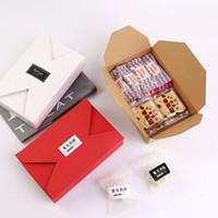 4 Farben Kraftpapierkästen Party Cookies Schokoladenkuchenbox Umschlag Typ Karton Kartonpaket Für Hochzeitsfest Festival Geschenk Wrap