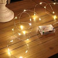 Led luces de cadena, mini luces de hadas estrelladas de alambre de cobre con pilas, luces con pilas para dormitorio, Navidad (5 m / 16 pies de blanco cálido)