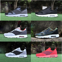 san francisco 2e2cd ef519 Nike Air Max 87 Airmax 87 2018 87 90 Mesh Tavas Camouflage Damen Herren  Schuhe Authentic Thea Schwarz Rot Weiß Air Caushion Sport Laufschuhe Größe  36-45