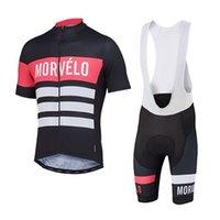 Morvelo Team Vente chaude Hommes Cyclisme Jersey Brobure Bords Ensembles Tenues de vélo Ropa Ciclismo Road Racing Confortable Sac Sac Sac Sac Sport S21022216