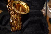 Ottone di alta qualità squisita mano scolpita in oro placcato soprano B (B) sassofono b flat sax con custodia, bocchino spedizione gratuita