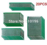20 قطعة / الوحدة 5x7 4x6 3x7 2x8 cm ضعف الجانب النحاس النموذج pcb التنمية التجريبية لاردوينو