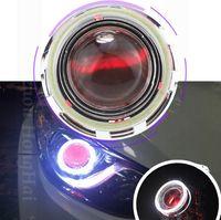 90mm Araba LED Işık Yüzük Gölge Ses Ile Modifiye COB Melek Göz Daire Demon Göz Sis Lambası COB Işık Yüzük ile Abajur