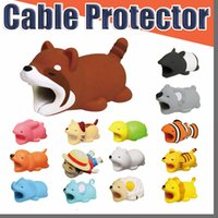 Cable Bite Hot 36styles Animal Bite Cable Protector Accessorio Giocattoli Cable Bites Cane Pig Panda Axolotl per iPhone Cavo di ricarica con scatola al minuto