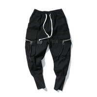 Harem Gevşek Pantolon Erkek Hip Hop Uzun Pantolon Kot Streetwear Moda Elastik Bel Kot Siyah High Street Jeans