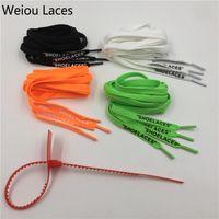 """Weiou Vente chaude Polyester plate vert blanc noir orange impression simple tête """"lacets"""" avec cravate à glissière pour chaussures de sport 130cm"""