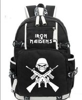 HOT-vendita Iron Maiden Metallica Heavy Metal Rock Band zaino Uomini Wome spalla borsa da viaggio Teenage Girl Zaini ragazzo Laptop Bag