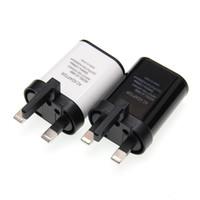 جديد المملكة المتحدة التوصيل USB شاحن 2A أوروبا العالمي شاحن الهاتف المحمول USB شاحن حائط محول للآيفون 5 6 7 8 6S زائد المسؤول 50PCS / الكثير