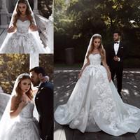 Сексуальные африканские плюс размер свадебные платья 2019 Sparkly Crystal Crystal Erain поезда арабский Дубай свадебные платья свадебное платье халат де Мариее