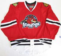 Rockford IceHogs Premier Hockey Jersey Stickerei Passen Sie eine beliebige Anzahl an und den Namen Custom Goalie Cut Goalit Herren Womens Youth Hockey-Trikots