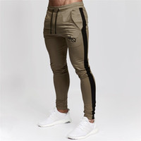 Jogging Pants Men Joggers Fitness Running Pants Striped Body...