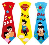 Kreative kind student diy neck krawatte vater vater geburtstag geschenke handgemachte neckewäsche cartoon necktuch kinder party neues jahr persönlichkeit krawatte