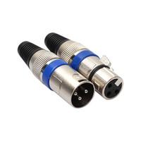 3 Pin Maschio / Femmina XLR 35 Buchse Connettore Adattatore Elettrico pro Mic mikrofon, audio Kabelstecker Spina maschio xlr