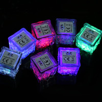 LED Ice Cubes Lights Party Night light Slow Flashing 7 Color...