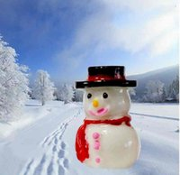 Mini Cute Snowman Doll In a Hat Christmas Landscape Ornament...