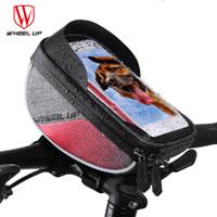 RUEDA DE ARRIBA A prueba de lluvia Bicicleta tubo del frente del 6.0 pulgadas de pantalla táctil Bolsas Bicicleta de bicicletas a prueba de agua bolsa móvil Bisiklet Aksesuar